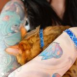 "Collier CHAT + Bracelet ""MR PURRFECT"" - FRIENDSHIPCOLLAR"