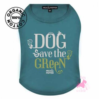 "Tee-shirt ""Green Dog"" coton BIO - MILK & PEPPER"