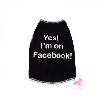 "Tee-shirt ""Yes, I'm on Facebook"""