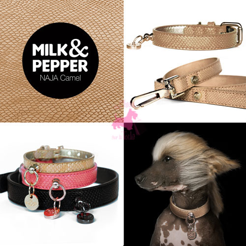 "Collier ""Naja CAMEL"" - MILK & PEPPER"