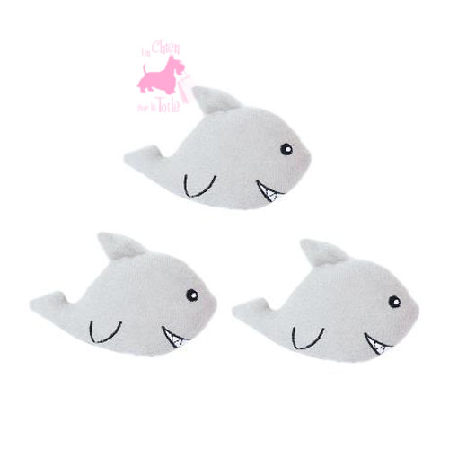 "Pack de 3 requins MINIZ ""Sharks"" - ZIPPY PAWS"
