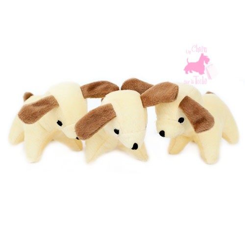 "Pack de 3 chiens MINIZ ""Dogs"" - ZIPPY PAWS"