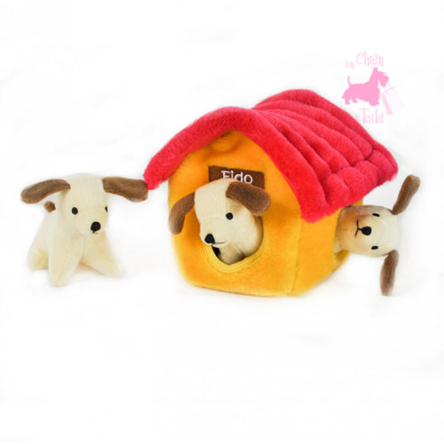 "Peluche Puzzle BURROW ""Dog House"" - ZIPPY PAWS"