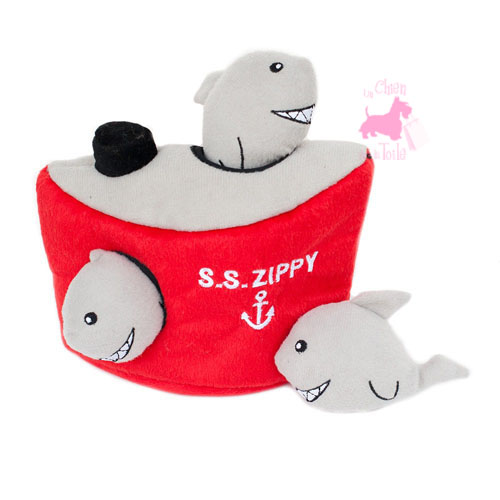 "Peluche Puzzle BURROW ""Shark 'n Ship"" - ZIPPY PAWS"