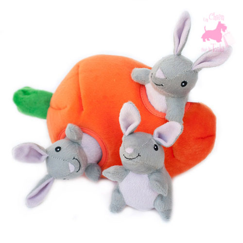 "Peluche Puzzle BURROW ""Bunny 'n Carrot"" - ZIPPY PAWS"