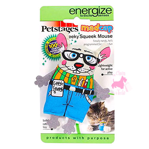 "Chat MadCap ""Geeky Squeek Mouse"" - PETSTAGES"