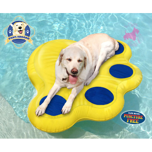 "Matelas gonflable ""Doggy LazyRaft"" - PAWS ABOARD"
