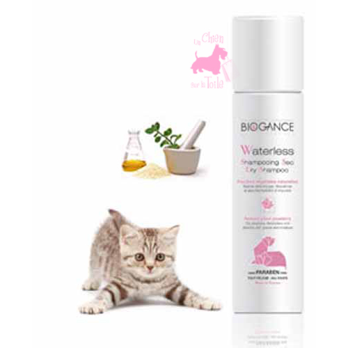 "Shampooing sec ""Waterless"" pour chat - BIOGANCE"