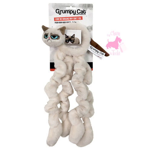 "Peluche élastique à accrocher ""Plush Door Hanger"" - GRUMPY CAT"