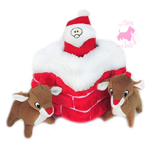 "Peluche Puzzle BURROW ""Santa Chimney "" - ZIPPY PAWS"