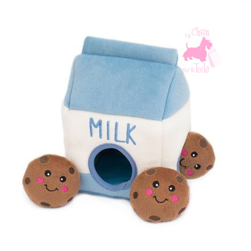 "Peluche Puzzle BURROW ""Milk 'n Cookies"" - ZIPPY PAWS"