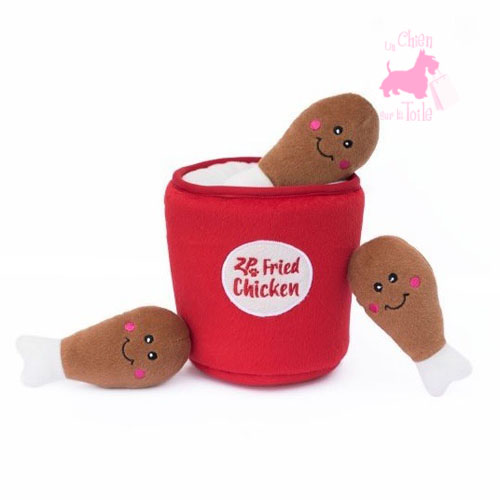 "Peluche Puzzle BURROW ""Chicken Bucket"" - ZIPPY PAWS"