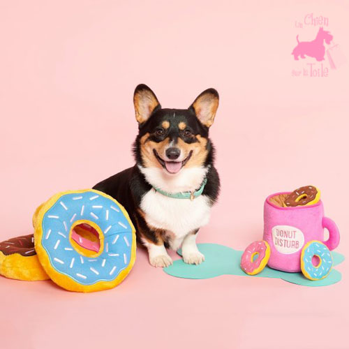 "Peluche Puzzle BURROW ""Coffee 'n Donutz"" - ZIPPY PAWS"