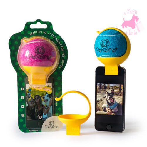 "Support smartphone ""Tennis ball"" - PETSELFIE"