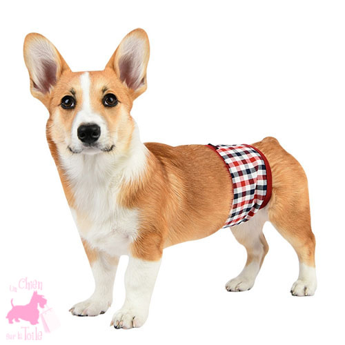"Bandeau anti-pipi ""Neil"" Wine - PUPPIA"