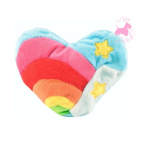 "Coeur ""Magic Rainbow Heart"" à la valériane  -  BAVARIAN CAT TOY"