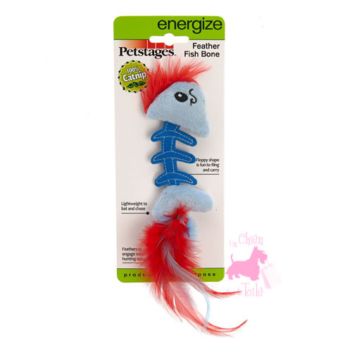 "Poisson ""Feather Fish Bone"" - PETSTAGES"