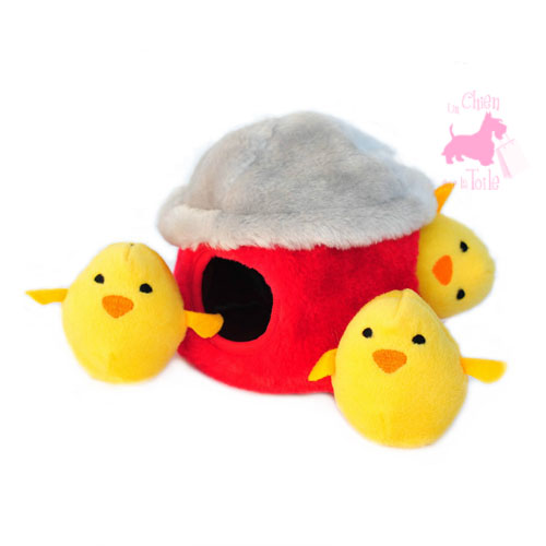 "Peluche Puzzle BURROW ""Chicken Hut"" - ZIPPY PAWS"
