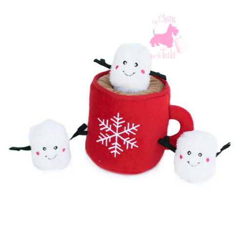 "Peluche Puzzle BURROW ""Hot Cocoa"" - ZIPPY PAWS"