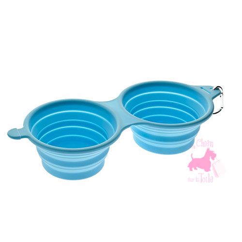 "Gamelle double pliable ""Silicone Bowls"" - FERRIBIELLA"