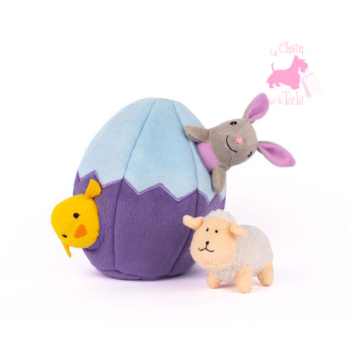 "Peluche Puzzle BURROW ""Easter egg 'n Friends"" - ZIPPY PAWS"