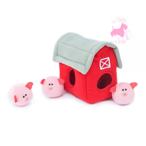 "Peluche Puzzle BURROW ""Bubble pigs 'n Barn"" - ZIPPY PAWS"