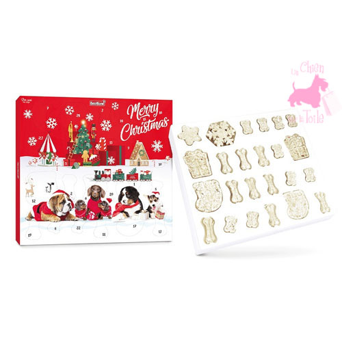 "Calendrier de l'Avent CHIEN ""Merry Christmas"" - BEST BONE"