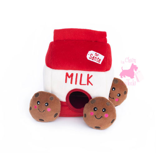 "Peluche Puzzle BURROW ""Santa Milk 'n Cookies"" - ZIPPY PAWS"