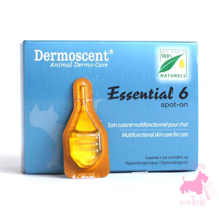 ESSENTIAL 6 SPOT ON POUR CHAT - DERMOSCENT