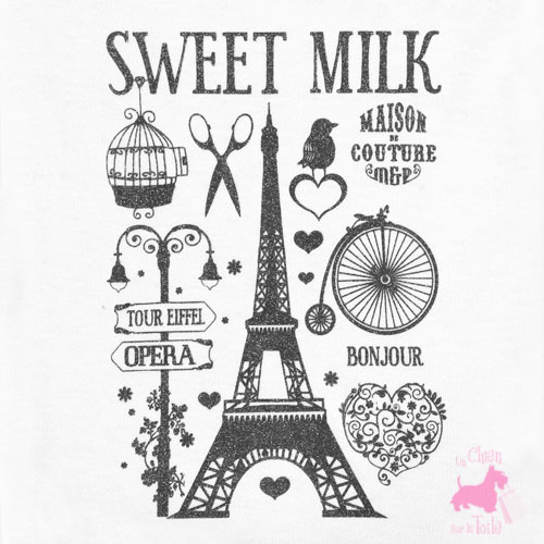 "Tee-shirt ""Paris"" - MILK & PEPPER"