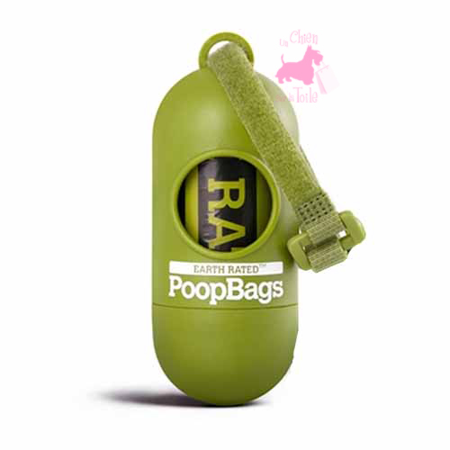 "Distributeur de sacs de propreté ""POOP BAGS"" - EARTH RATED"