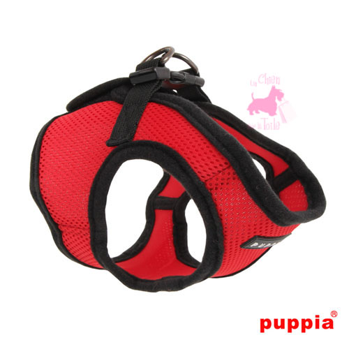 "Harnais Veste PUPPIA ""Soft Vest Harness B"" Red"