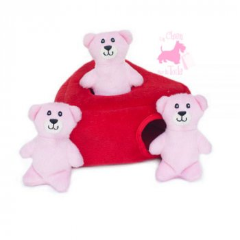 "Peluche Puzzle BURROW ""Heart 'n Bears"" - ZIPPY PAWS"