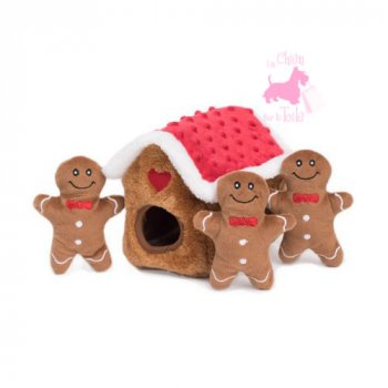 "Peluche Puzzle BURROW ""Gingerbread House"" - ZIPPY PAWS"